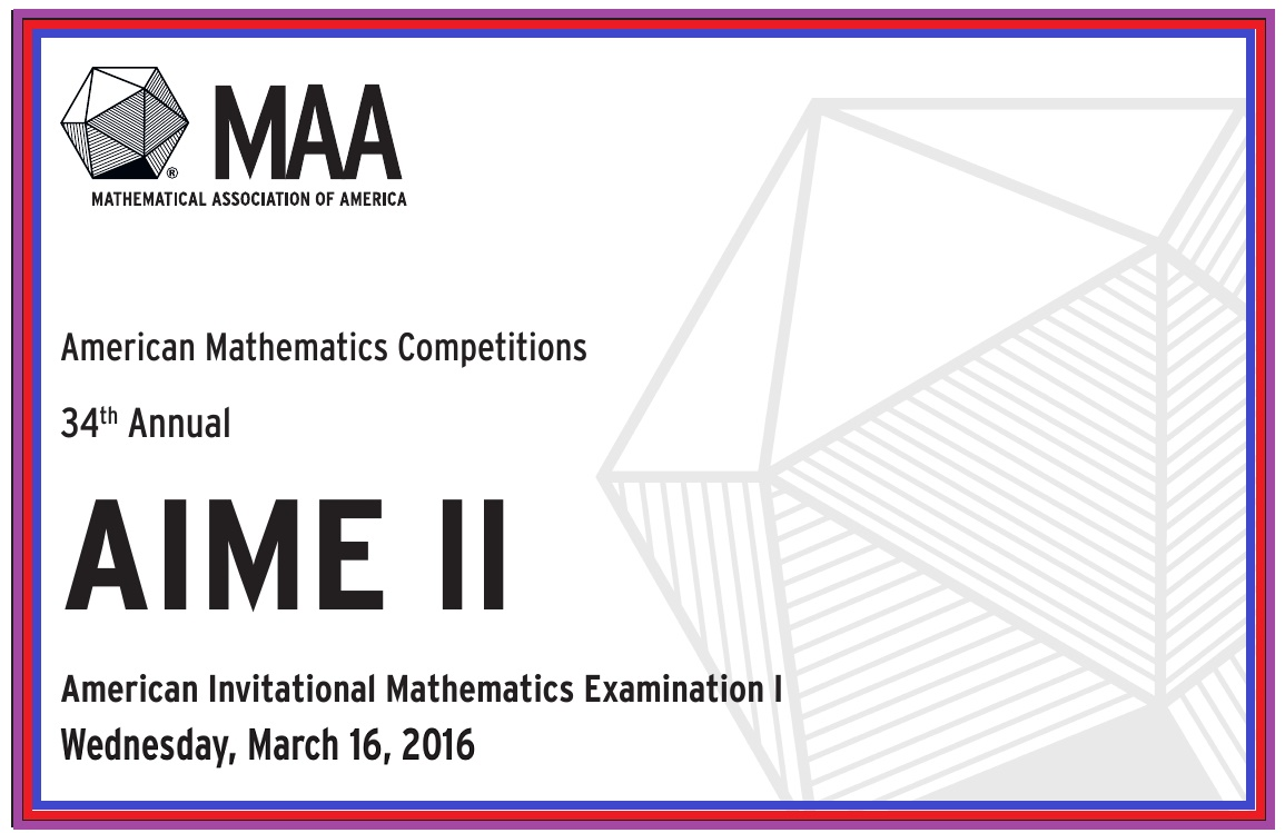 2016 AIME II Problems and Answers | Ivy League Education Center