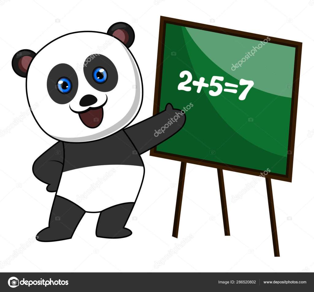 This image has an empty alt attribute; its file name is depositphotos_286520802-stock-illustration-panda-doing-math-illustration-vector.jpg